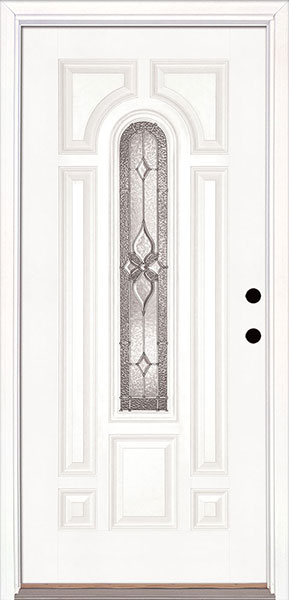 white smooth fiberglass door