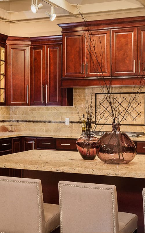 Dark-Cherry KItchen DEsign