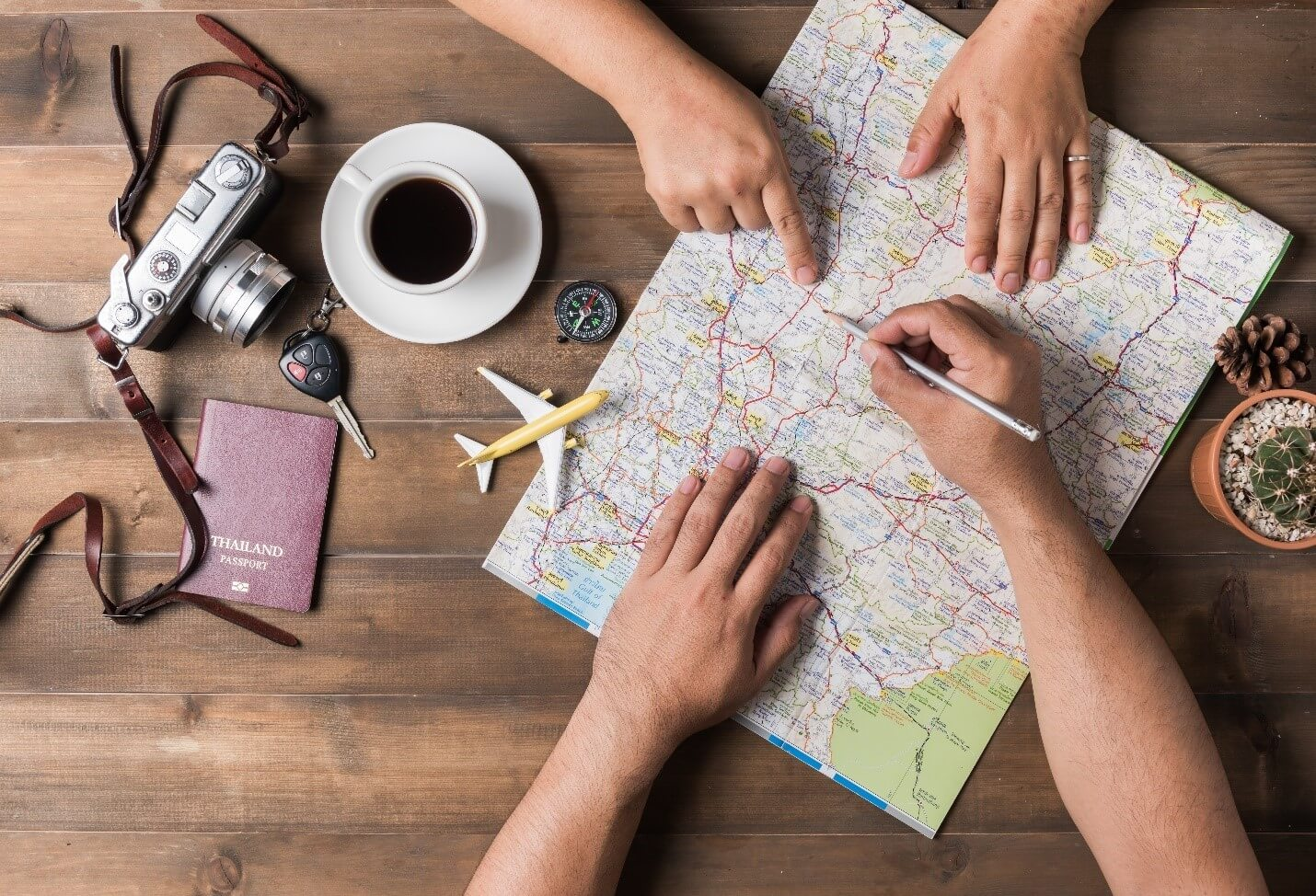 Using Map to plan vacation