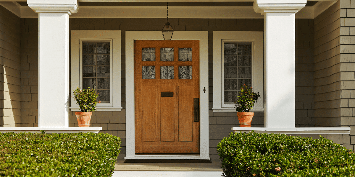 A home with a beautiful doorway